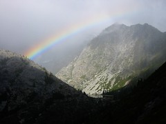 Rainbow over Emerald Lake - Trinity Alps photo by Beyond the Trail
