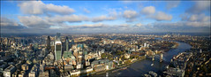 London panoramic view-  If you reblog the photo please leave a link to the original! Thanks!!! [2904x1056] photo by Katarina 2353
