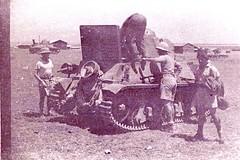 1941- Palestine- Char de Claude Robédat à l'entretien à Quastina - Col P. Robedat