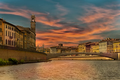 River Arno, Pisa Italy photo by Michael Leggero