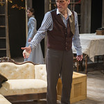 Mark L. Montgomery (Eilert Lovborg) and Kate Fry (Hedda) in HEDDA GABLER at Writers Theatre.  Photo by Michael Brosilow.