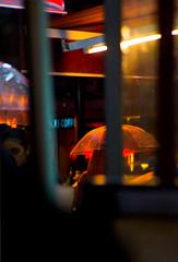 Woman with umbrella, Istanbul (Turkey) photo by Merton Wilton