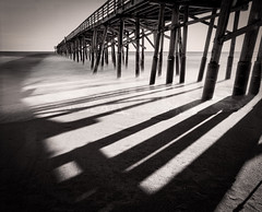 Shadow lines from the pier. [Explored] photo by Photo by Sammy