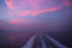 wake and sunset photo by ΞSSΞ®®Ξ