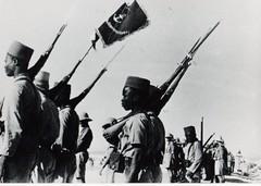 BM 2 - Syrie- 1941 - 14 juillet- Défile à  Deir Atyie  et fanion du BM 2 - Fonds Amiel