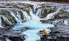 Into the blue, Brúarfoss, iceland photo by NaphakM