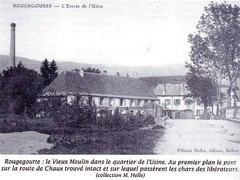 1944- Franche Comté-Vosges- Rougegoutte usine et pont de la route de Chaux par lequel passèrent les libérateurs Source   La Voge 2012 Hors série - Libération du pays sous-vosgien