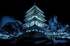 The Glowing Pagoda - Japanese Manga Inspired Rendering photo by NYRBlue94