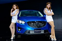 Beautiful, sexy presenters for Mazda at the 30th Thailand International Motor Expo 2013 photo by UweBKK (α 77 on )