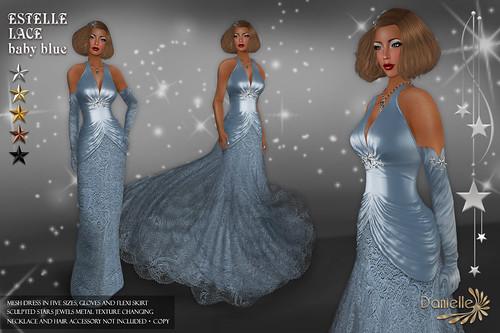 DANIELLE Estelle Lace Baby Blue