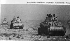 1942 - Bir Hakeim- attaque des chars italiens M13 40 de la division Ariete