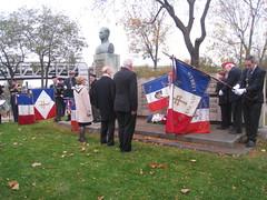 Général Brosset- Paris -Commémoration novembre 2012 au Monument Brosset et de la 1ère DFL  (Pont de Bir Hakeim)
