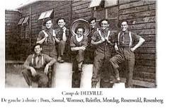 1940 - Delville camp - de gauche à droite : Pons, Saunal, Wormser, Reinflet, Mestdag, Rosenwald et Rosenberg