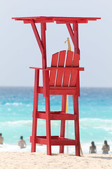 Cancun, Mexico Beach Life Guard Stand photo by Trenten Kelley Photography