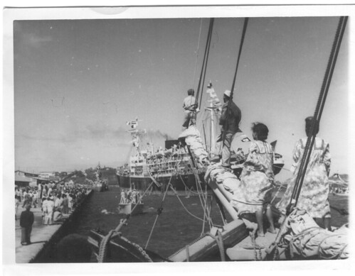 BP- Arrivée du Saggitaire à Nouméa 21 mai 1946 - Fonds Jean Tranape