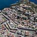 Ibiza - Aerial view of the old town of Ibiza, Spain