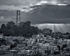 Coit Tower HDR photo by mikeSF_