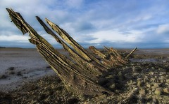 Aberlady wreck photo by Lobhdain