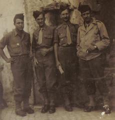 1944 juin- Italie- Pierre Curutchet, Pierre Beilin, André Pelte, Pierre Gauthier