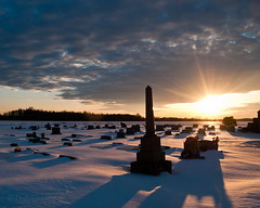 cemetery sunset photo by IndyEnigma