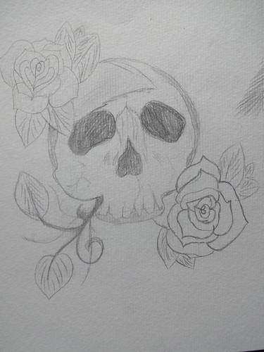 Crane et rose
