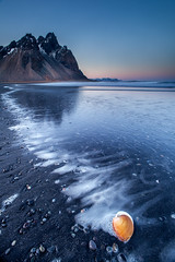 Sunset at Stokksnes photo by Snorri Gunnarsson