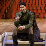 Sean Fortunato in ROSENCRANTZ AND GUILDENSTERN ARE DEAD at Writers Theatre. Photos by Michael Brosilow.