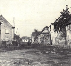 1945- Alsace - Grusenheim-rue principale - source - Jeanne Heitzler