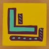 Bob and Roberta Smith Alphabet Block Letter L