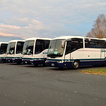 Group of Tour Buses