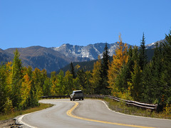 On mountain road in Colorado photo by Batikart