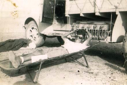 Santé- Raoul Béon- Pause durant la campagne avec les free french -Col. Françoise Basteau