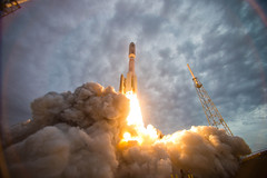 The MUOS 2 satellite launches from Cape Canaveral. photo by Official U.S. Navy Imagery