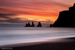 Sea stacks and Fire photo by aland67