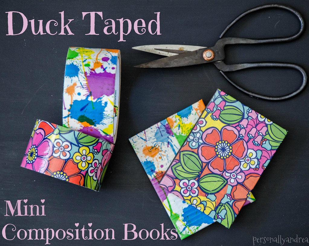 Ducktaped Composition Books | personallyandrea.com