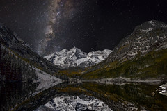 Maroon Bells and the Milky Way photo by wishiwsthr