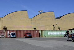 Building and containers photo by AstridWestvang