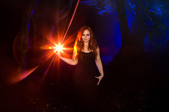 Witchcraft (Katherine Velours Witch With Lightpainting), Shrubhill Common photo by flatworldsedge