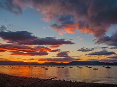Yachts at Sunset, Gourock photo by Bathsheba 1