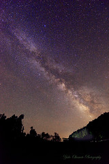 The Milky Way from house photo by yoko.wannwannmaru