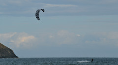 Kite Surfer in Aberdaron Bay - Summer 2013 photo by philclewlow
