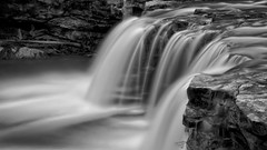 Falling Water Falls in black and white photo by Dave's Photo Odyssey
