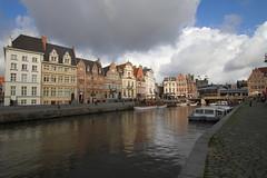 Korenlei-Graslei, Ghent, Belgium photo by virt_