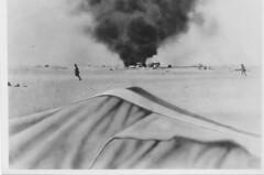 1942- Bir Hakeim- Bombardement vu de la position