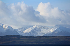 Snow on the Arran Hills .. photo by jackatlargs