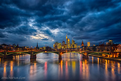 Blue Hour - Frankfurt - Nikon D800E & Rokinon Shift & Tilt 3,5/24mm photo by Ansgar Hillebrand