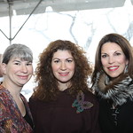 Jill Hirsch and Trustee Lizzy Scheinfeld with Director's Society member Laurie Jaffe. Photo by Abby McKenna.