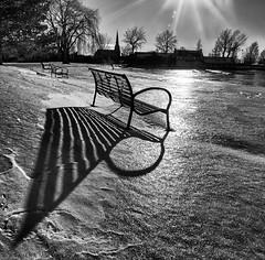 bench shadow photo by marianna_armata