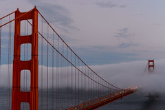 Golden Gate Bridge meets the wall of fog photo by AnotherSaru - Limited mode