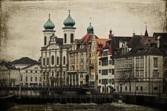 Lucerne Jesuitenkirche Vintage Texture photo by Swissrock